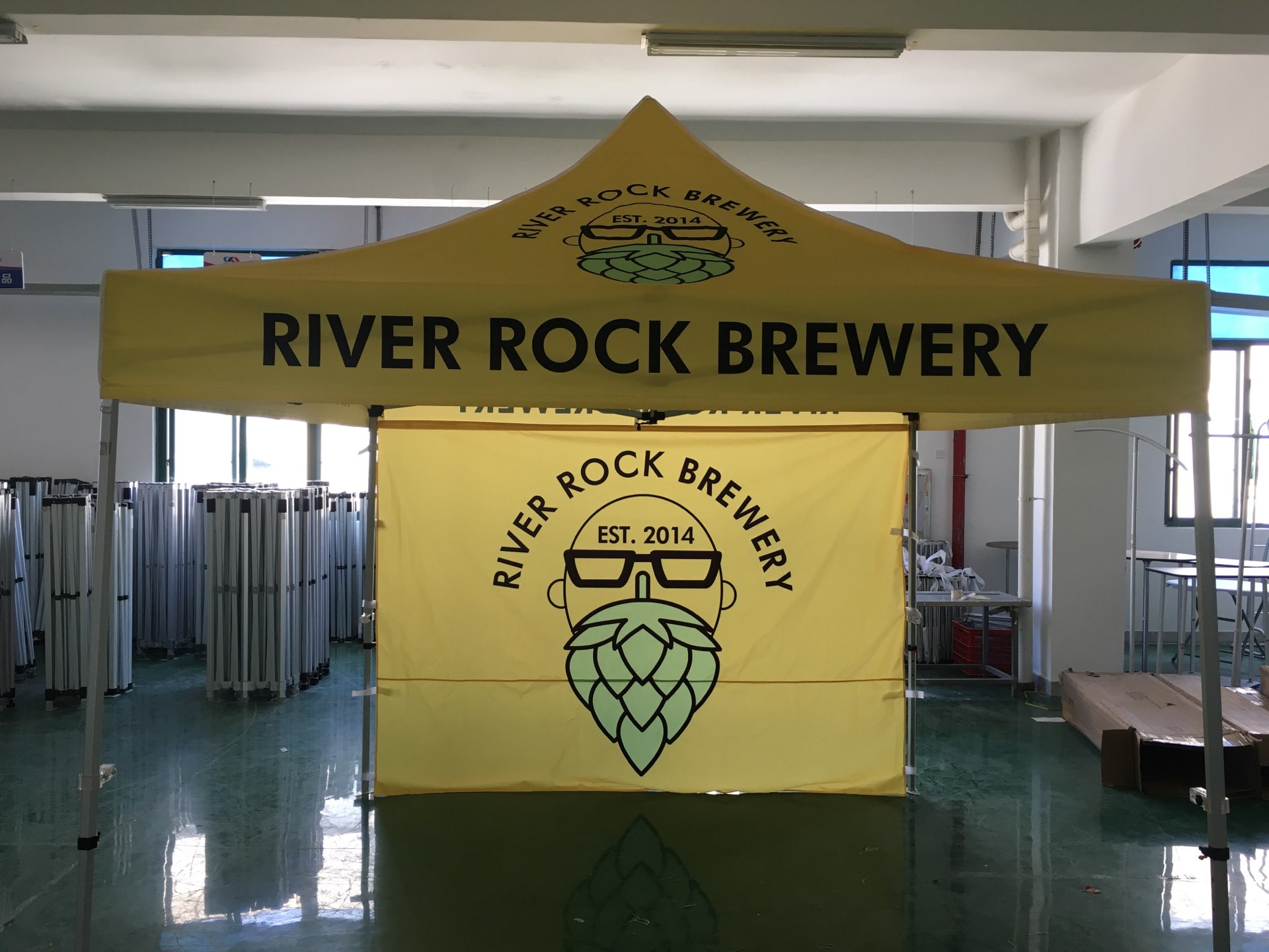 10x10ft Custom Canopy Tent for River Rock Brewy