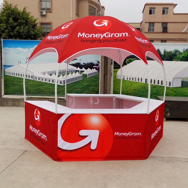 Dome Moneygram Booth with Custom Graphics