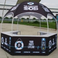 Dome for The Hangover SOS Booth with Custom Graphics