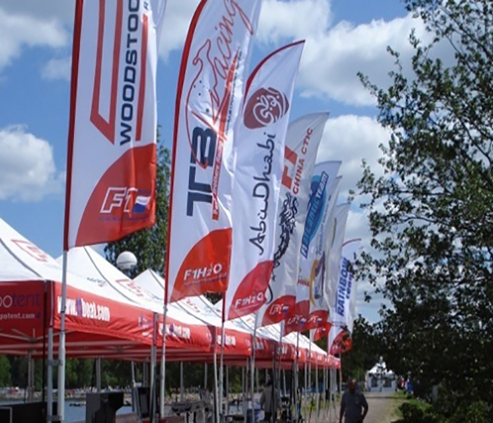 Custom Flags with Logos for Outdoor Events