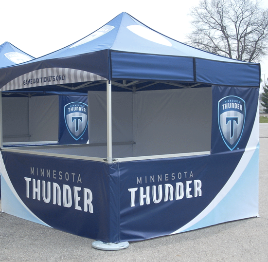 Custom Sports Soccer Tent Example for Minnesota Thunder