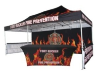 Fire Protection Custom Canopy Example with Table Cover