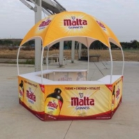 Dome Tent for Malt Guiness Booth with Custom Graphics