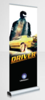 Custom Graphics Roll Up Banner Example