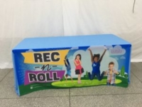 Custom Table Throw - City of Dubeque Rec & Roll
