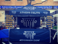 Athen's Delite Custom Food Service Canopy Tent