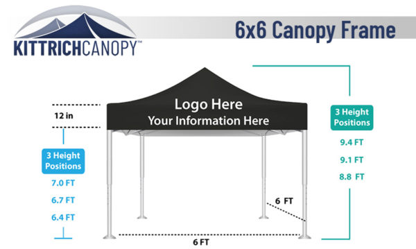 Small and compact the 6 foot by 6 foot canopy is great for shading at beaches parks and sporting events.  sc 1 st  Kittrich Canopy & Standard Canopies u2022 Kittrich Canopy