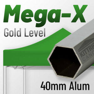 Mega-X Gold Level 40mm Aluminum Standard Canopy