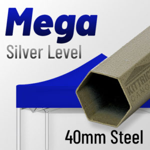 Mega Silver Level 40mm Steel Standard Canopy