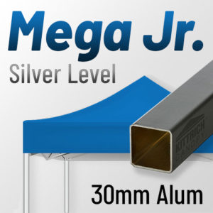 Mega-Jr. Silver Level 30mm Aluminum Standard Canopy