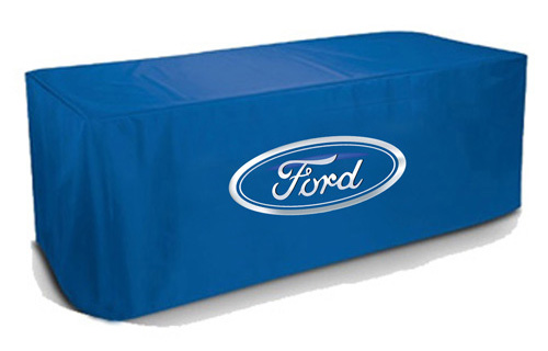 Custom 6ft table cover trade show Ford Motor Company