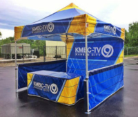 Custom Canopy KMBC TV Kansas City with Table Cover Backwalls