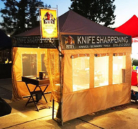 Pete's Knife Sharpening Custom Canopy Tent with Window Screens